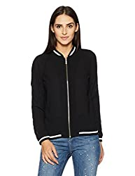 Pepe Jeans Womens Blouson Jacket (PILT200608_Black_Large)