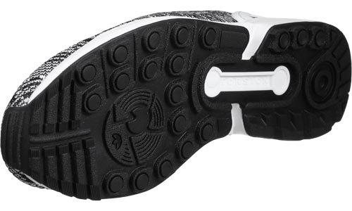 adidas Zx Flux, Scarpe da Ginnastica Basse Uomo, Nero Black/White