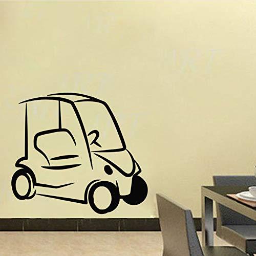 Meaosy Einfaches Design Golf Cart Wandaufkleber Ausgangsdekor Kinderzimmer Wandtattoos Vinyl Abnehmbare Wandkunst Aufkleber