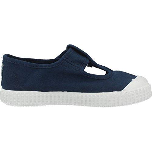 Victoria Sandalia Lona Tintada Velcro, Baskets Basses Mixte Enfant blue
