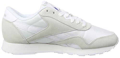 Reebok Classic Nylon, Chaussures de Course Garçon, Multicolore Blanc, gris clair (White / Light Grey)