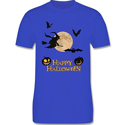 Halloween - Happy Halloween Mond Hexe - Herren Premium T-Shirt Royalblau