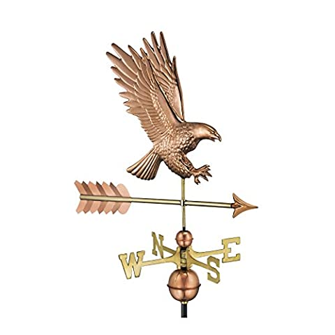 Good Directions American Bald Eagle Weathervane, Pure Copper