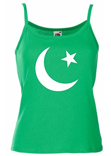 T-Shirtshock - Canottiera Donna TM0190 flag of Pakistan flag, Taglia S