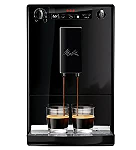 Melitta Caffeo Solo Bean-to-Cup Coffee Machine (Pure Black) with 2 x 250g of coffee