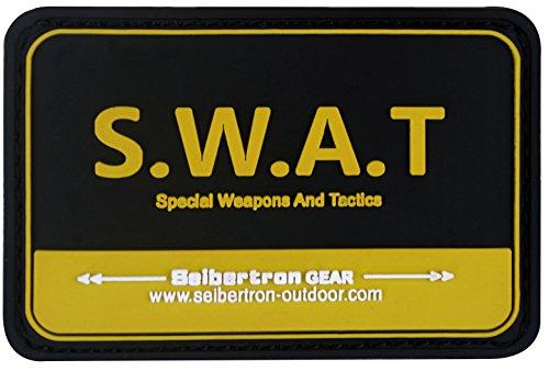 Preisvergleich Produktbild Seibertron Orange 'S.W.A.T' PVC Rubber 3D Hook&Loop Touch Fastener Patch Tactical Patch by