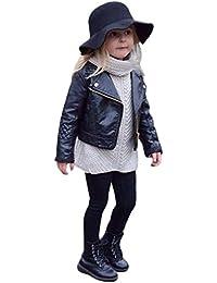 Abrigo acolchado para bebé niña niño , Yannerr Chico Chica invierno Cuero chaqueta sudadera capa ropa outwear gruesa caliente