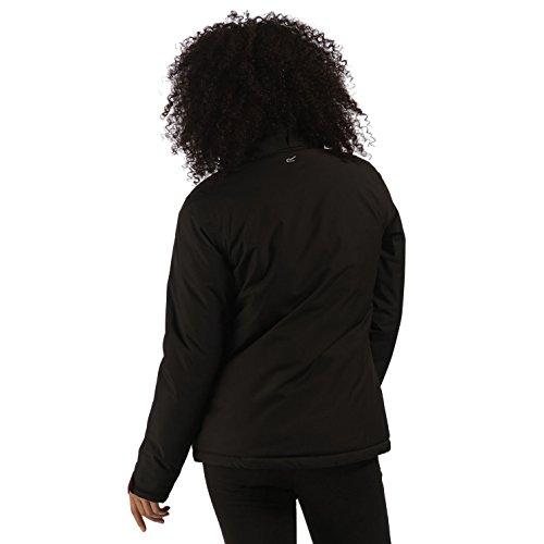 Regatta - Damen Funktionsjacke in Blau oder Schwarz, Wasserdicht und Atmungsaktiv, Keeley (RWP201) Black (Burgundy) (2K4)
