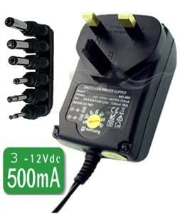 CostMad ? 6-Way 500mA max. AC to DC Universal Universelle Multi Voltage 3V / 4.5V / 6V / 7.5V / 9V / 12V Plug in Mains AC Power Adapter Adaptor Power Supply Replacement