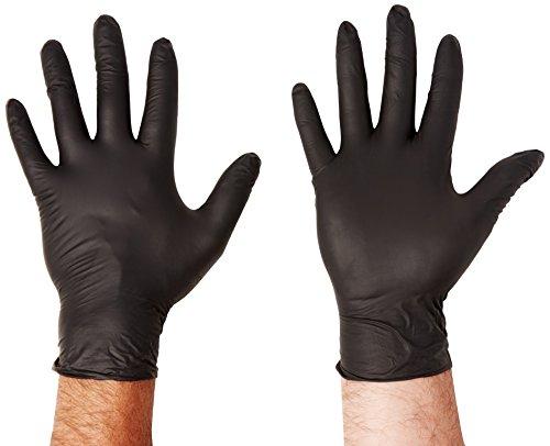 handsafe hea01371 spécialité Gants en nitrile,, grand, noir (Lot de 100)