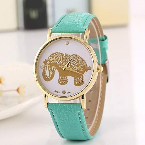 ZNCD Reloj De Cuarzo Digital Circular del Niño del Elefante De La Correa De La Moda De La Historieta De La Historieta Reloj Salvaje Regalo De La Aleación del Cuarzo Redondo De Gift,001