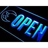 Enseigne Lumineuse j806-b OPEN Bar Blue Moon Beer Club Neon Light Sign