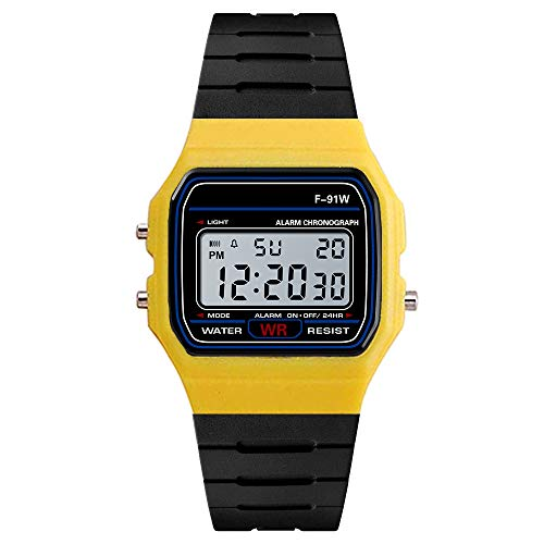 Yvelands Luxus Uhren Männer Analog Digital Military Army Sport LED Wasserdichte Armbanduhr(Gelb,Free)