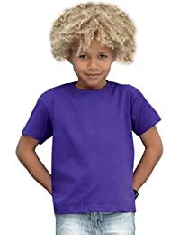 Fruit of the Loom Plain Childrens Black T Shirt All Ages
