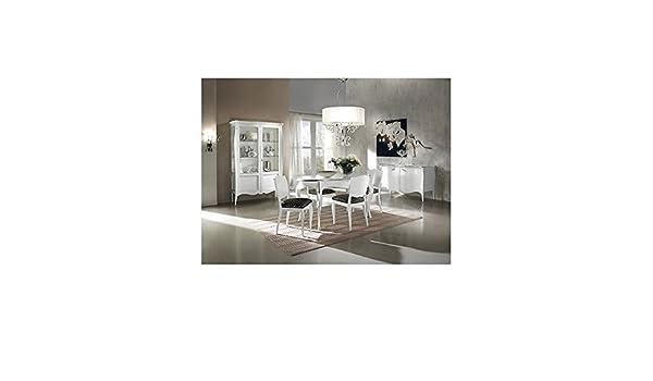 Credenza Bombata Moderna : Estea mobili credenza moderna bombata laccato bianco legno