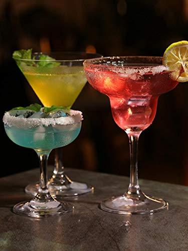 Youwei Margarita-Gläser, ohne Stiel, bruchsicher, perfekt für Weihnachten, Catering und Event. 18 straight straight goblet 300 ml Margarita-goblet