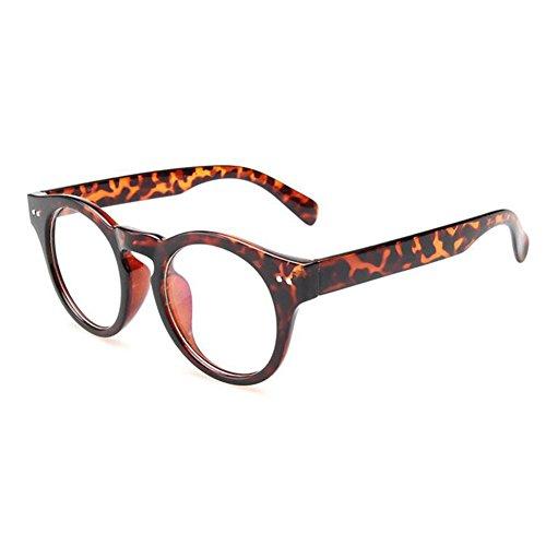 Hzjundasi Männer Frauen Klare Linse Brillen Lesebrille Dekor Mode Geek/Nerd Brillen
