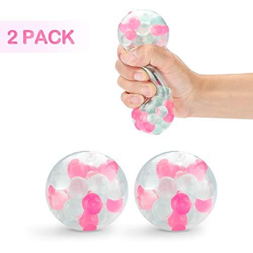 FunCombo 2er LED Stressball Set, Squishy Mash Ball / Anti-Stress-Bälle für Kinder und Erwachsene