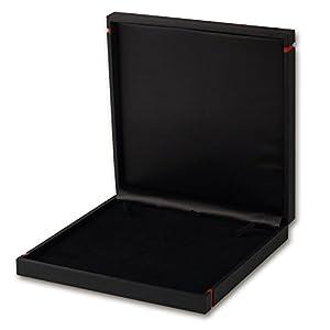 imppac Collier Etui Schmuck Schachtel schwarz Geschenk- Universal Verpackung Collierschachtel 195x195x35mm VE150