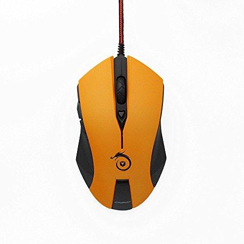 zaidtek G20LED Gaming Maus 1600dpi 6Tasten optische Mäuse PC Maus Nylon Braid Kabel freie Installation High Speed Spiel Freund orange Orange -
