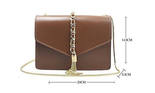 Sacchetto di spalla obliquo della piccola borsa del sacchetto del sacchetto del sacchetto del mini sacchetto di spalla selvaggio piccolo piccolo ( Colore : Nero ) Caramel