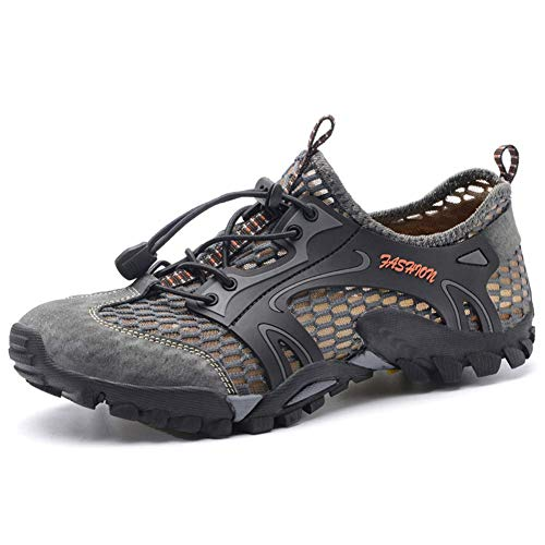 Scarpe da escursionismo da trekking per uomo all'aperto Scarpe da ginnastica da passeggio Nautica Scarpe da trail e da acqua per campeggio Trekking Spiaggia Camminate Alveo Navigazione Kayak,Gray,41
