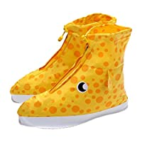 Nelnissa 1 Pair of Reusable Waterproof Rain Shoe Covers Overshoes (Giraffe)(M)