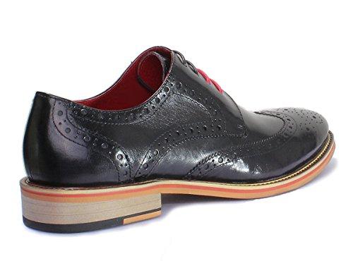 Reece Justin D200 mat 6 chaussures en cuir pour homme Black PN12