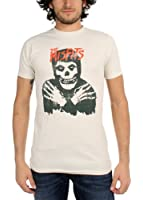 The Misfits - Classic Skull (Distressed) Herren T-Shirt in Vintage weiß