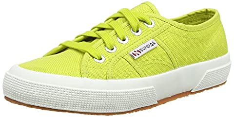 Superga 2750 Cotu Classic, Sneakers basses femme - Vert - Green (Apple), 39.5 EU