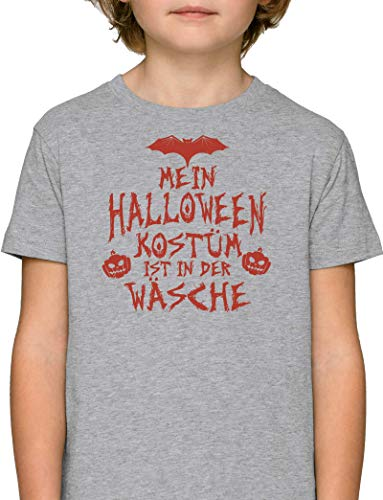 Grusel Gruppen Premium Bio Baumwoll Mädchen Jungen Kinder T-Shirt Stanley Stella Mein Halloween Kostüm ist in der Wäsche 3, Größe: 12/14,Heather Grey (Mädels Halloween-kostüme Drei Der)