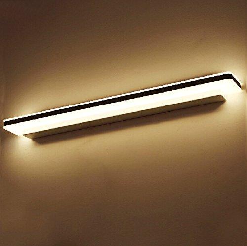 SJMM Moderne LED-Spiegel Licht Wandleuchte für Make-up Bad hochwertige 8-13W&Edelstahl Acryl LED-Spiegel, Lampe 13W L800x B80XH50mm, weiß(#JD-1340)