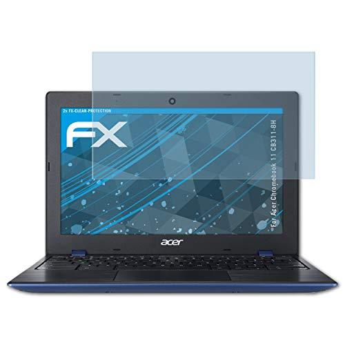 atFolix Schutzfolie kompatibel mit Acer Chromebook 11 CB311-8H Folie, ultraklare FX Displayschutzfolie (2X)