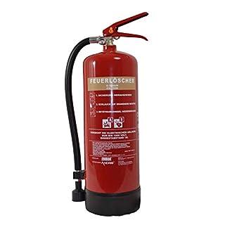 Feuerlöscher 6 Liter Schaum   Brandklasse A B   mit Halterung   Manometer   Prüfnachweis ANDRIS® Symbolschild Folie