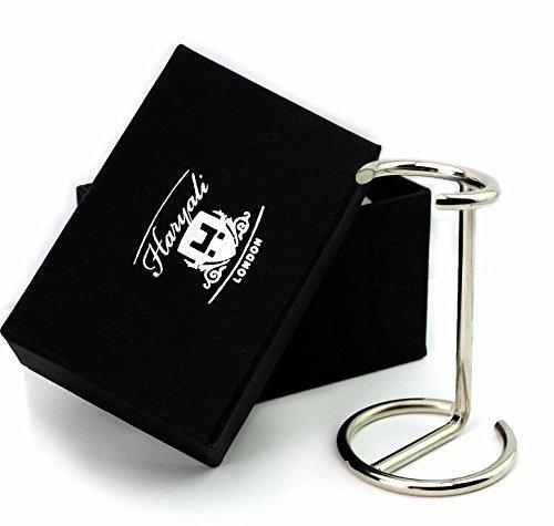 Rasierpinsel Ständer / Halter Hergestellt aus Edelstahl mit Chrom Finish. Kommt mit Unser Designer Kiste