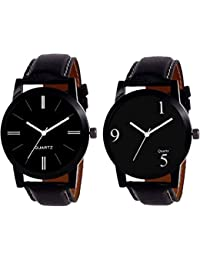 STARDUST Casual Analog Black Dial Men Watch - Men Combo (Pack Of 2)