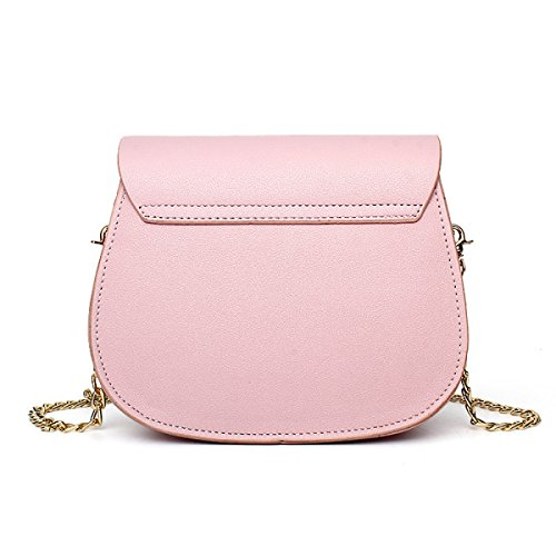 Frauen-Art- Und Weiseschulter-Beutel-Quiltenketten-Kreuz-koreanische Damen-Handtasche,Gray Pink