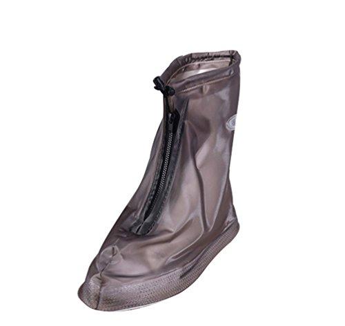 WanYang Homme Femme Couvre-Chaussures Antidérapant Semelles Épaisse Vélo Moto Guêtre Botte Pluie Imperméable Surchaussures Pluie Antidérapante
