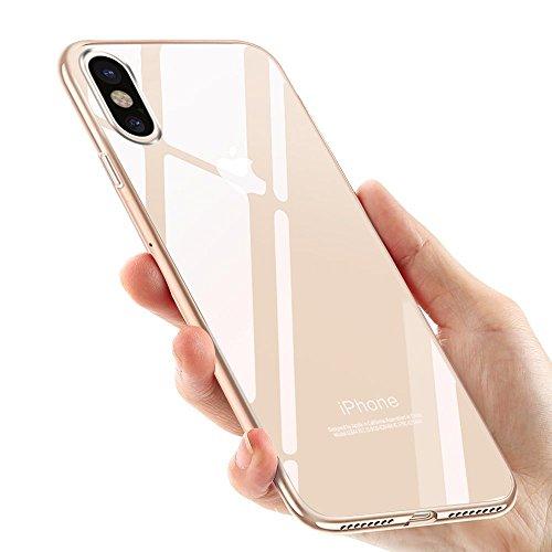 Preisvergleich Produktbild iPhone X Handyhülle, Vitutech Crystal iPhone X Silikon Hülle TPU Bumper Case Premium Kratzfest Ultra Dünn Anti-Shock Weich Schutzhülle für iPhone X Case Cover - Transparent