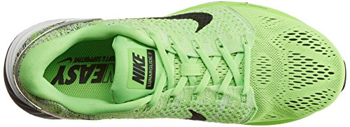 Nike Herren Lunarglide 7 Laufschuhe, Weiß, Medium Grün (Grün (Electric Green/Black-White))