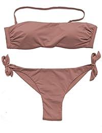 EONAR Damen Niedriger Bund Bikinihosen Seitlich zu binden Brazil-Bikinislip