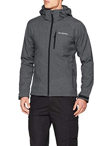 Columbia Winddichte Softshelljacke für Herren, Cascade Ridge II Softshell, Polyester, grau (charcoal heather), Gr. XS, WM3241 - 5