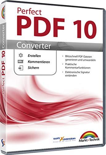 Perfect PDF 10 Converter - PDFs erstellen, konvertieren, schützen, Kommentare hinzufügen, Digitale Signatur einfügen | 100{5eff5e75ad4262d20e5f1500b22703434a05e18acdd902bfc7cc636c4de616ff} Kompatibel mit Adobe Acrobat