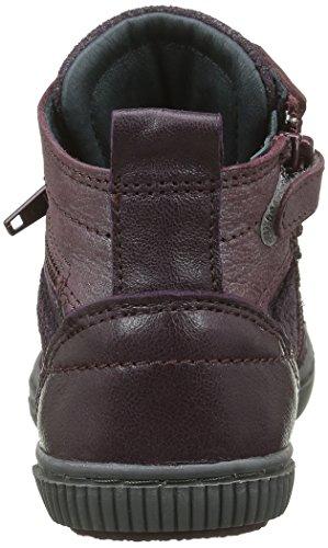Pataugas Banjou/M J4b, Baskets Hautes Fille Violet (Aubergine)