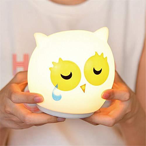 Wiederaufladbarer Berührungssensor Bunte Kawaii Eule Silikon LED Nachtlicht Kinder Nette Kinder Geschenke Silikon Geschenk für Baby ( style 3) (Auf Sie Klopfen Nicht Halloween)
