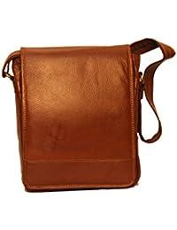 ALB Genuine Leather Sling Bag-Brown