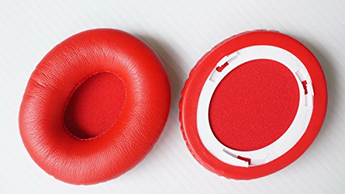 eder Kissen Ersatzteile für Beats Solo 1.0& Monster Beats Solo & Beats Solo HD Kopfhörer (earmuffes/Kissen) Headset (1Paar) 90 * 70mm rot ()