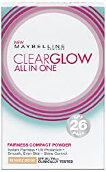 Maybelline Clear Glow Powder, Nude Beige, 9 g