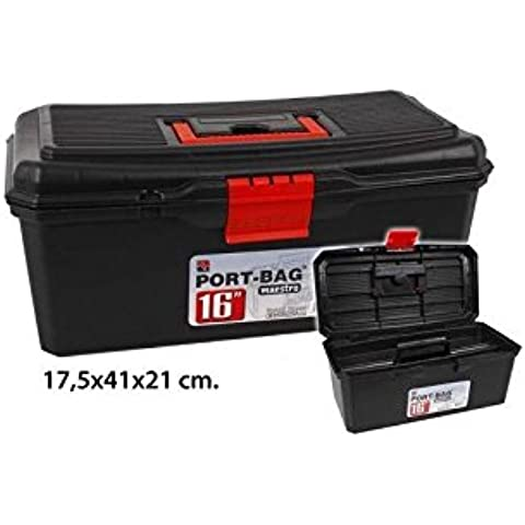 Caja Herramientas Con Bandeja, PORT-BAG, 17,5x41x21cm.