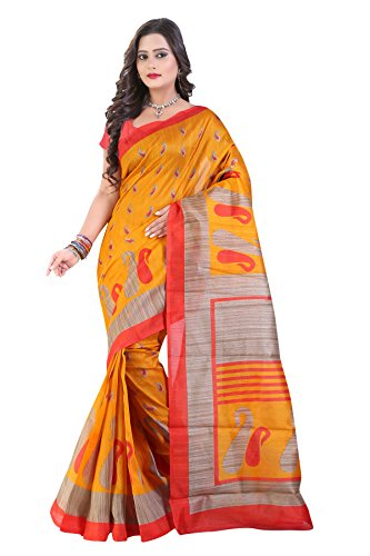 Glory Sarees Cotton Saree (Saree10_Orange)